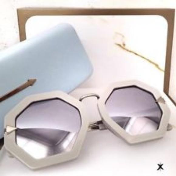 723450f1b38e KAREN WALKER Moon Disco Octagonal Sunglasses